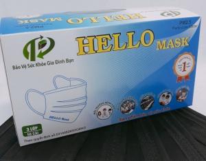 KHẨU TRANG Y TẾ HELLO MASK (3 Lớp Đen HQ )